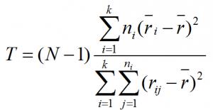kruskal Wallis equation MTB